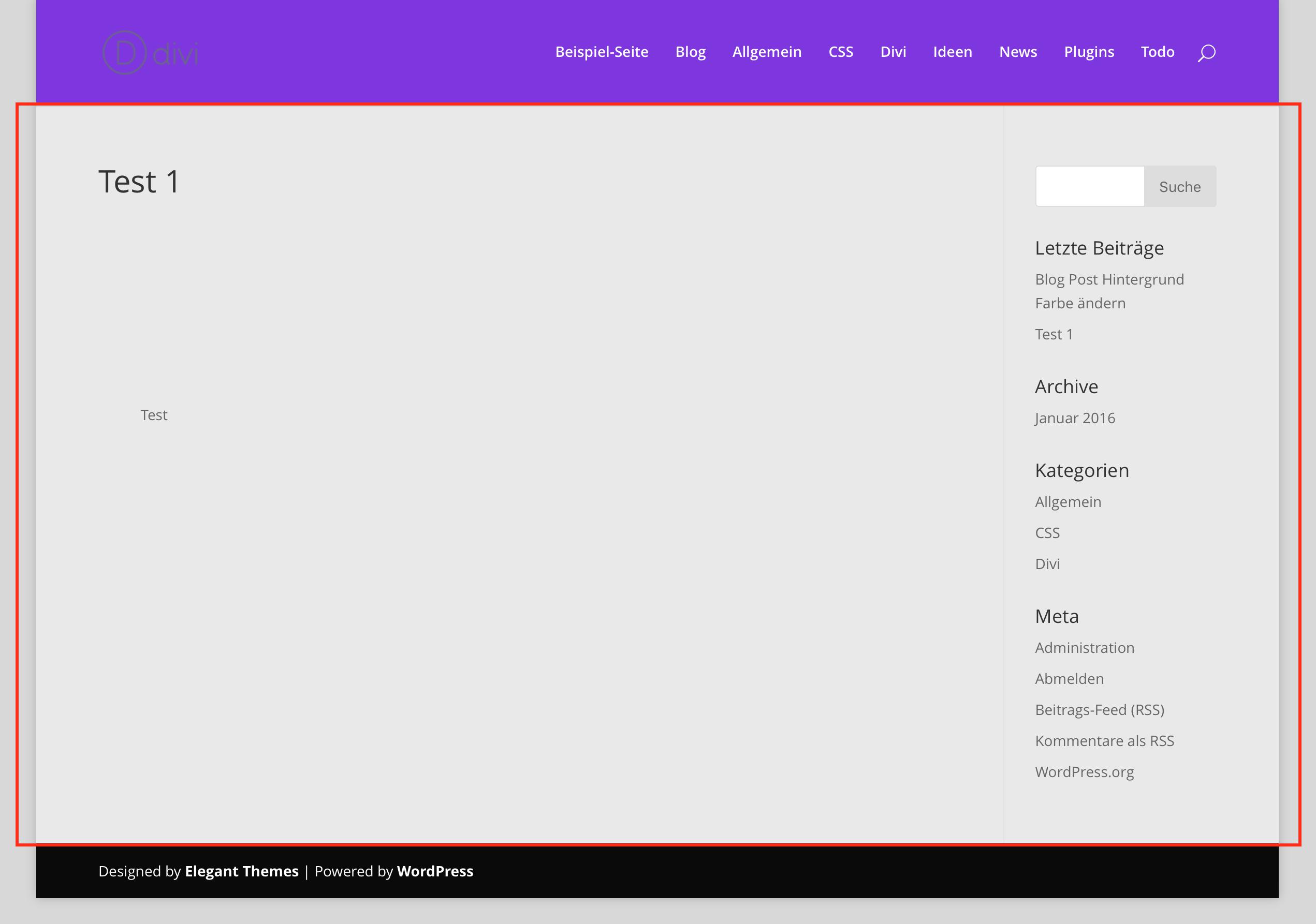 Divi: Blog Post Hintergrund Farbe ändern