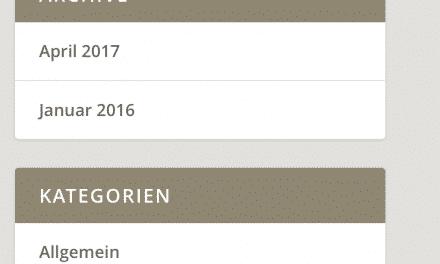 Hintergrundfarbe der Widget Überschriften in Extra ändern